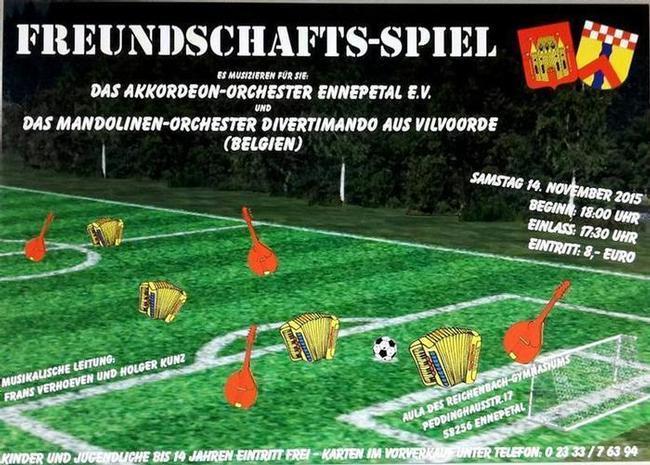 """Akkordeon-Orchester Ennepetal: Konzert """"Freundschafts-Spiel"""""""