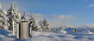 Akkordeon transportieren im Winter