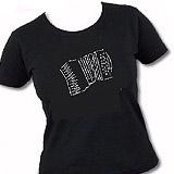 T-shirt Girlie Akkordeon